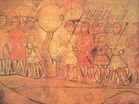 Exèrcit de Jaume I marxant cap a conquerir València.